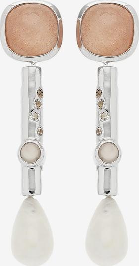 Carolin Stone Ohrringe in grau / pink / silber / weiß, Produktansicht