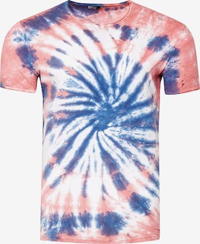 Rusty Neal Shirt in de kleur Blauw / Rosa / Wit, Productweergave