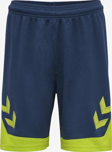 Hummel Sportbroek 'Lead Poly' in de kleur Navy / Lichtgroen, Productweergave