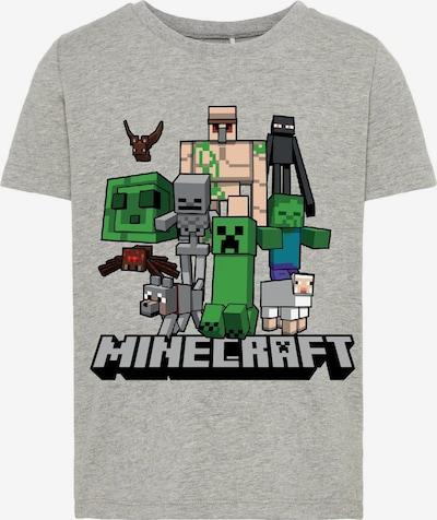 NAME IT Shirt 'MINECRAFT ARTHUR' in graumeliert / mischfarben, Produktansicht