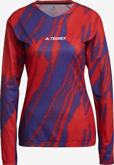 ADIDAS PERFORMANCE Sportshirt in dunkellila / rostrot / weiß, Produktansicht