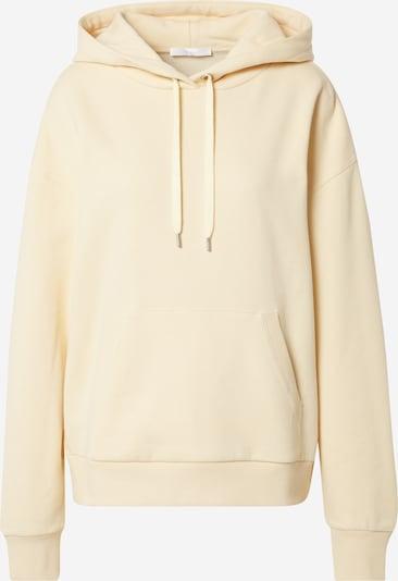 BOSS Sweatshirt 'Econny' in pastellgelb / weiß, Produktansicht