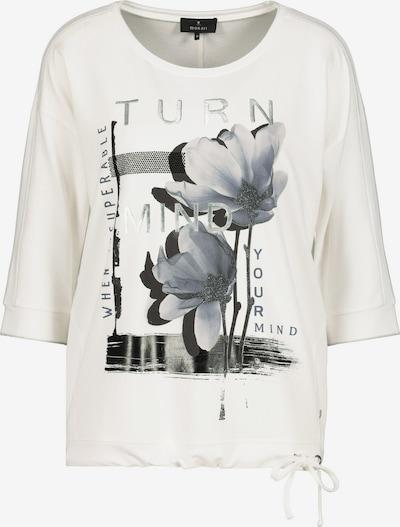 Tricou 'Blume' monari pe negru / argintiu / alb, Vizualizare produs