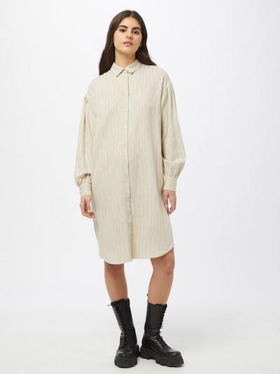 SOAKED IN LUXURY Kleid 'Jules' in champagner / dunkelgrau, Modelansicht