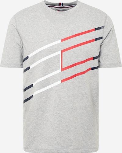 Tricou funcțional Tommy Sport pe bleumarin / gri deschis / roșu / alb, Vizualizare produs