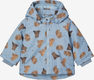 NAME IT Zimní bunda 'MAX' - kouřově modrá / hnědá, Produkt
