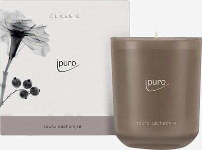 ipuro Winter Duftkerze 'Cachemire Candle' in braun / weiß, Produktansicht