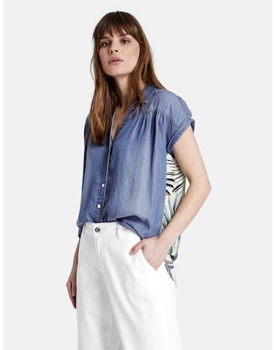 TAIFUN Bluse in blau / mischfarben, Modelansicht