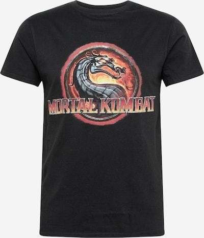 Mister Tee T-Shirt 'Mortal Kombat' en jaune / rouge / noir: Vue de face