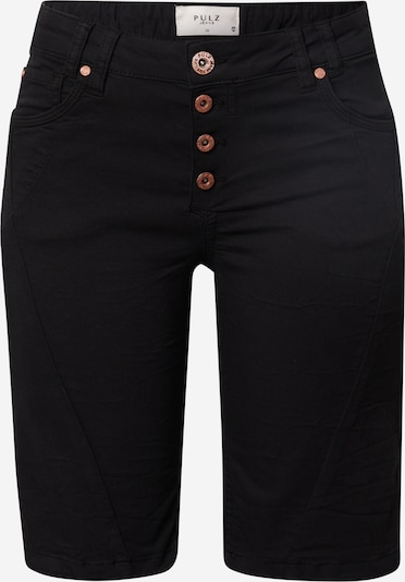 PULZ Jeans Shorts 'ROSITA' in schwarz, Produktansicht