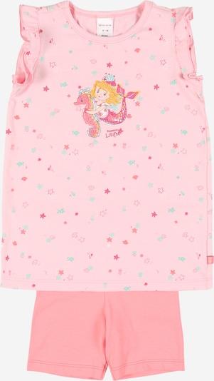 SCHIESSER Pidžama jauktu krāsu / rozā, Preces skats