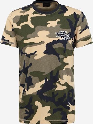 DIESEL T-Shirt 'Diegos' in Grün