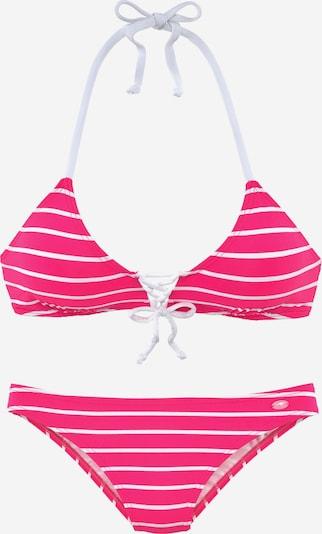 KangaROOS Bikini in fuchsia / weiß, Produktansicht