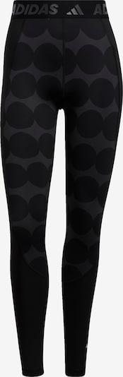 ADIDAS PERFORMANCE Pantalon de sport 'Marimekko' en gris foncé / noir, Vue avec produit