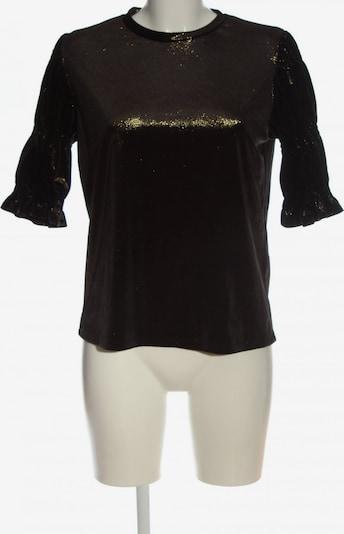find. Glanzbluse in M in gold / schwarz, Produktansicht