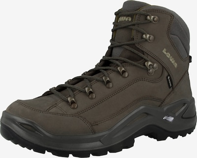 LOWA Schuh ' Renegade GTX Mid ' in grau / dunkelgrün, Produktansicht