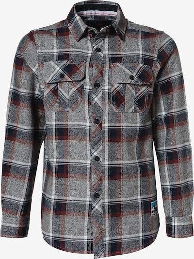 LEMON BERET Hemd in nachtblau / graumeliert / weinrot / weiß, Produktansicht