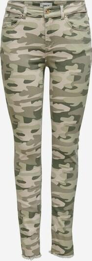 ONLY Jeans in de kleur Beige / Olijfgroen, Productweergave