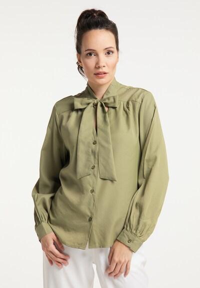 DreiMaster Klassik Bluse in oliv, Modelansicht