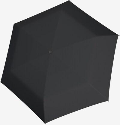 Doppler Taschenschirm in schwarz, Produktansicht
