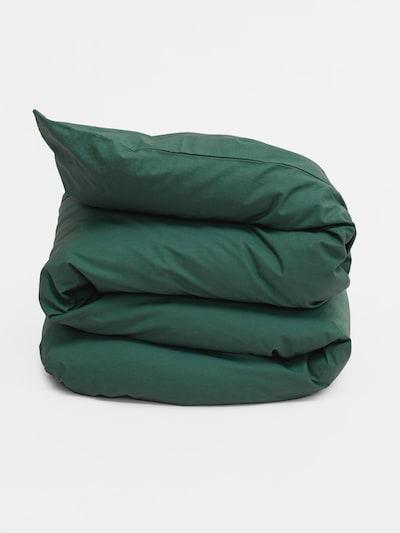 Erlich Textil Dekbedovertrek 'Finn' in de kleur Donkergroen, Productweergave