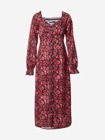 Missguided Robe en mélange de couleurs / rouge, Vue avec produit