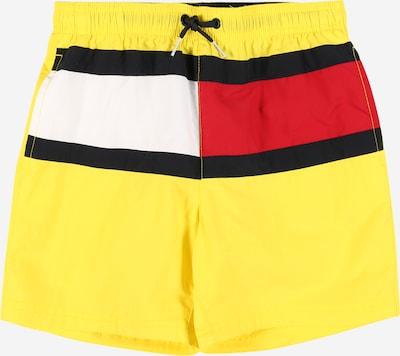 TOMMY HILFIGER Zwemshorts in de kleur Navy / Neongeel / Rood / Wit, Productweergave