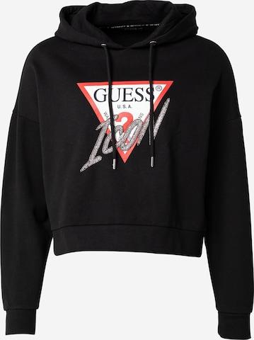 GUESSSweater majica - crna boja