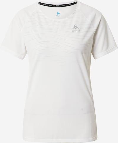 Sportiniai marškinėliai 'Essential' iš ODLO , spalva - šviesiai pilka / balta, Prekių apžvalga