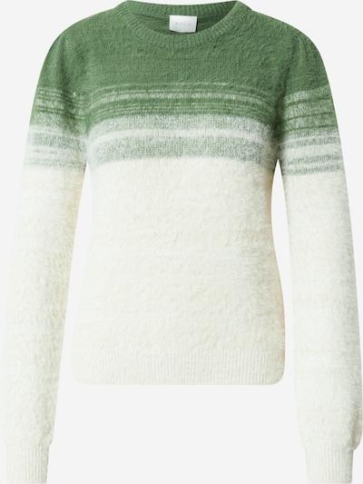 VILA Sweater 'FEA' in Grass green / White, Item view