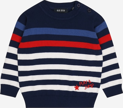 Megztinis iš BLUE SEVEN, spalva – tamsiai mėlyna jūros spalva / tamsiai mėlyna / raudona / balta, Prekių apžvalga
