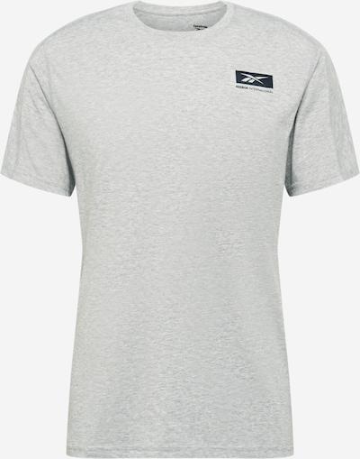 REEBOK Funkční tričko - šedá / černá, Produkt
