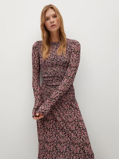 MANGO Kleid 'Rolo' in pink / rot / schwarz, Modelansicht
