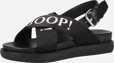 JOOP! Sandalen met riem in de kleur Zwart / Wit, Productweergave