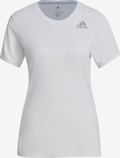 ADIDAS PERFORMANCE T-Shirt in hellgrau / weiß, Produktansicht