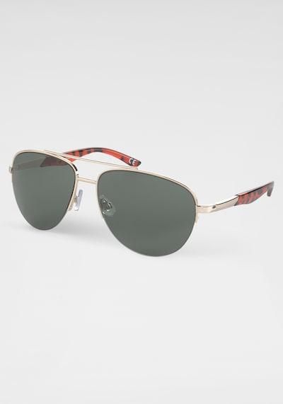 ROUTE 66 Sonnenbrille in gold / tanne / rostrot, Produktansicht