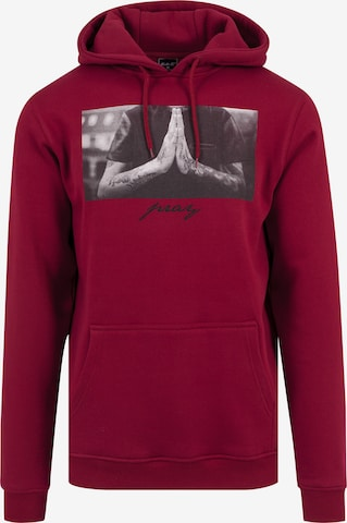 Mister Tee Sweatshirt 'Pray' in Red