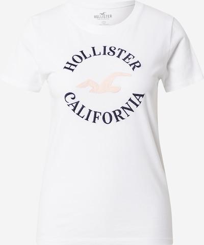 HOLLISTER Тениска в тъмносиньо / пастелно розово / мръсно бяло, Преглед на продукта