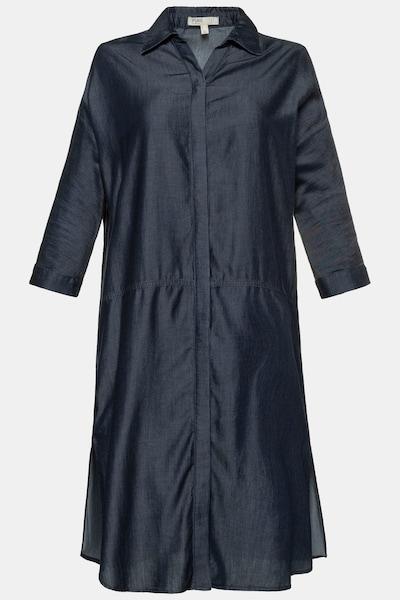 Ulla Popken Hemdblusenkleid in nachtblau, Produktansicht