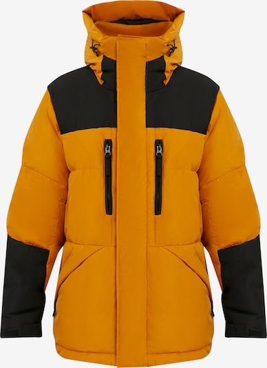 Finn Flare Daunenmantel in orange, Produktansicht