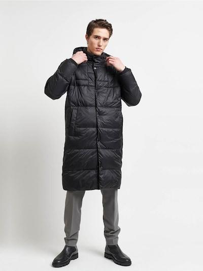 BRUUNS BAZAAR Zimný kabát 'Lucky Freddy' - čierna, Model/-ka