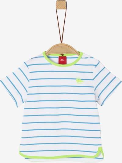 s.Oliver T-Shirt in blau / apfel / weiß, Produktansicht