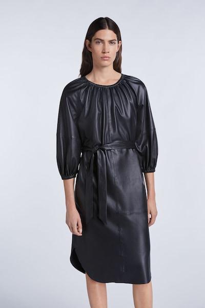 SET Lederkleid in schwarz, Modelansicht