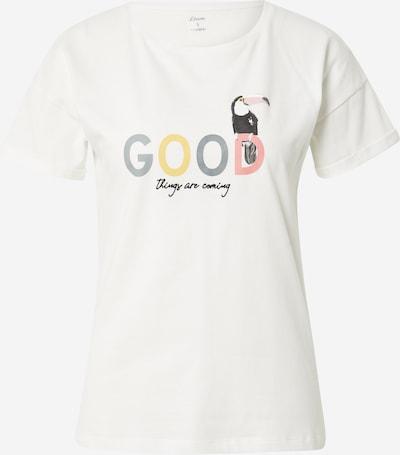 ETAM Majica za spanje 'IZZIE' | rumena / siva / roza / naravno bela barva, Prikaz izdelka