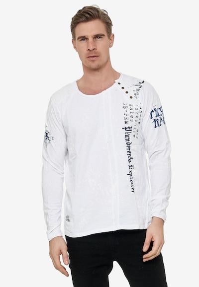 Rusty Neal Langarmshirt mit angesagtem Allover-Print in weiß: Frontalansicht