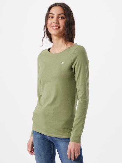 Marc O'Polo Shirt in hellgrün / weiß: Frontalansicht