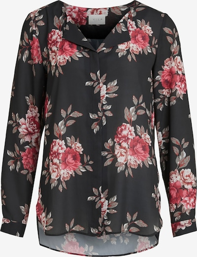 Bluză VILA pe bej / gri / roz pitaya / negru, Vizualizare produs