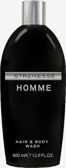 STRENESSE Duschgel 'Homme' in silbergrau / schwarz, Produktansicht