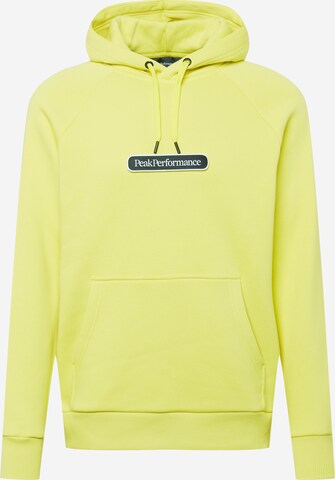PEAK PERFORMANCE Sportsweatshirt i gul