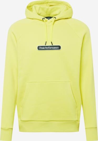 PEAK PERFORMANCE Sportsweatshirt in zitrone / schwarz / weiß, Produktansicht